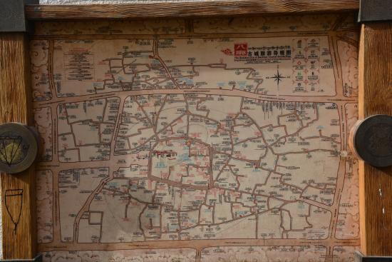 Snowlands Hotel: map of the old city opposite the hotel