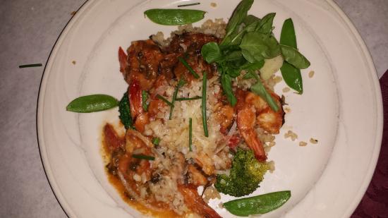 Jerome, AZ : Shrimp scampi with tomato buerre
