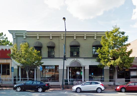 Chapel Hill, NC: Street view of FRANK Gallery