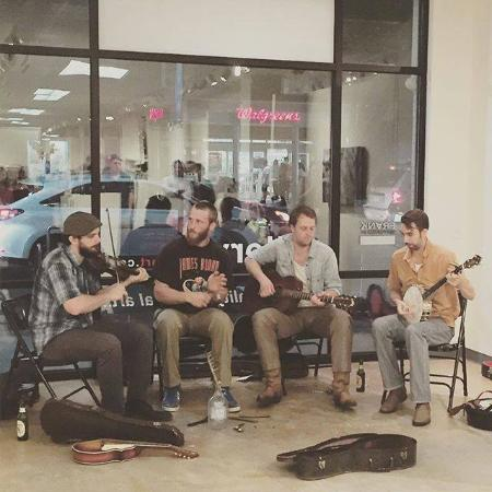 Chapel Hill, NC: The Piedmont Regulators fill FRANK with music at a recent opening