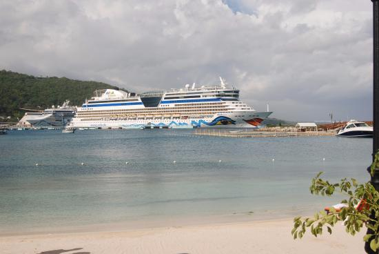 the view of the cruise port piers with 2 ships docked picture of rh tripadvisor com