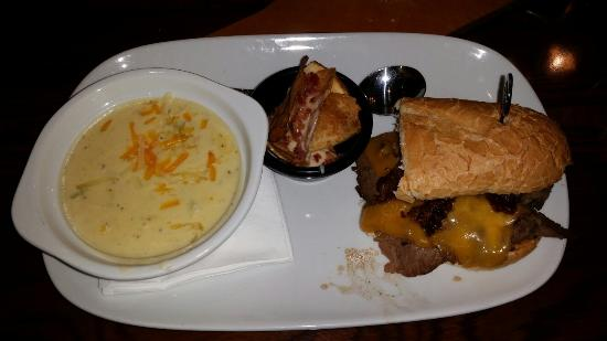 Oxford, AL: Broccoli Asiago Cheddar Soup and Bacon and Steak Cheddar Melt