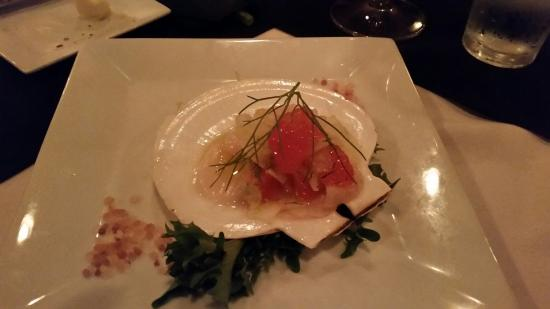 Apex, NC: Scallop crudo