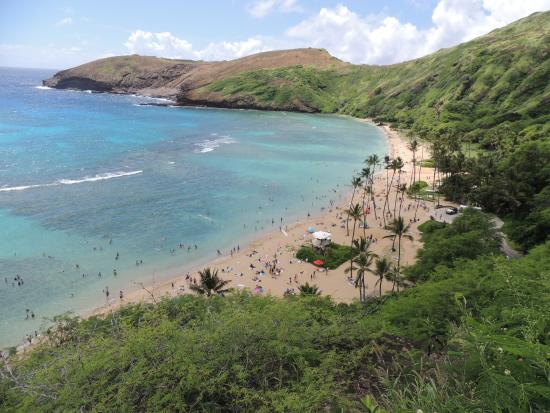 Hanauma Bay Nature Preserve: View from the top
