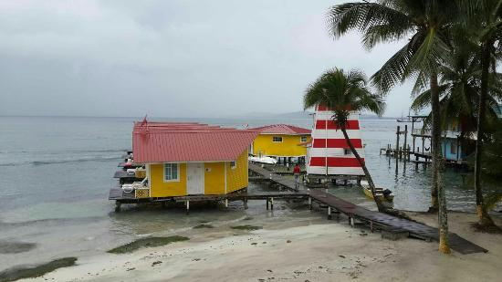 Carenero Island, Panama/Panamá: Vista desde el balcón