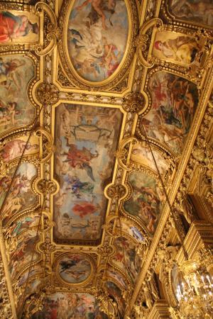 Paris, France: Grand Foyer - teto