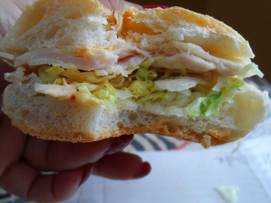 Oceanside, NY: 2 slices of turkey? maybe 3?