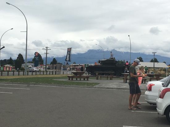 Waiouru, Nuova Zelanda: By the cafe entrance