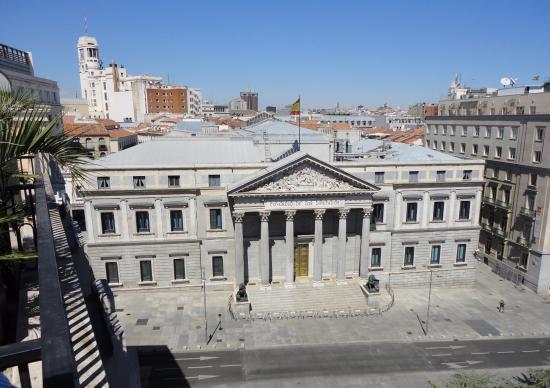 Hotel Villa Real: Vista del Congreso desde la terraza de la habitación