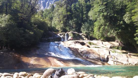 The Toboganes (waterslides) in Cochamo Valley