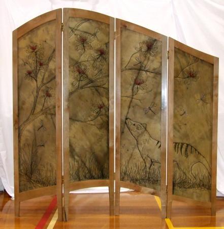 Deloraine, Australia: Silk screen by Cindy Watkins