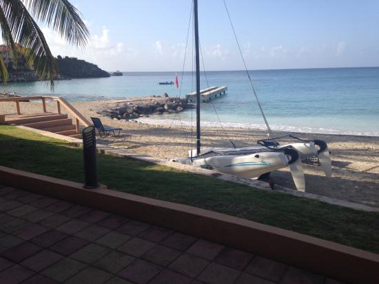 Divi Little Bay Beach Resort: View of snorkeling area from our patio