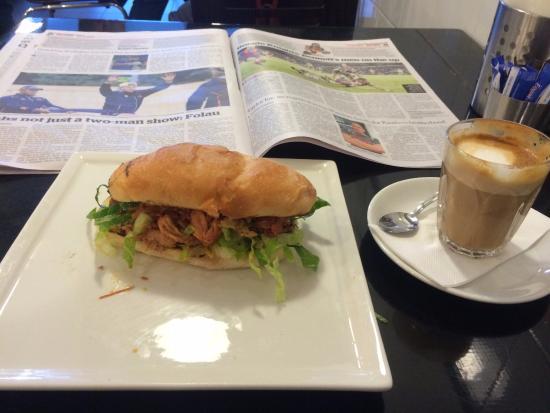 St Leonards, Avustralya: Pulled pork sandwich