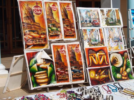 Art For Purchase In Tourist Town Market Picture Of