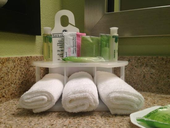 Holiday Inn Express Hotel & Suites Raleigh North - Wake Forest: I love the shampoo and soap. Smells so good! And they include a makeup remover towlette!