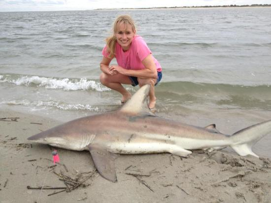 Pawleys Island, Carolina del Sur: Quick photo then he was released