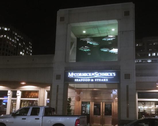 M&S Reston exterior (those are fish above the door)