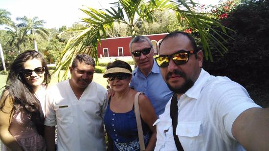 Temozon, Mexico: con Armando Lopez durante nuestra visita