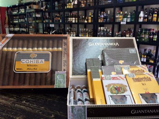 Discount Liquor Wine & Cigars: Costa Rican & Cuban cigars.