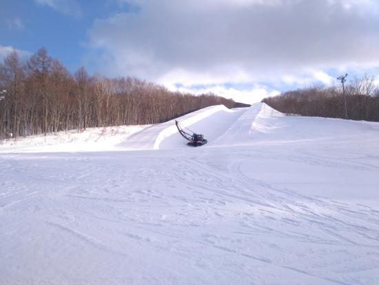 Ajigasawa-machi, Japón: A 22ft halfpipe for freestyle skiers and snowboarders