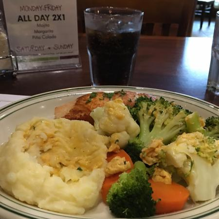Miramar, FL: I has the baked salmon for lunch. It was excellent! I was also given great service by the lovely