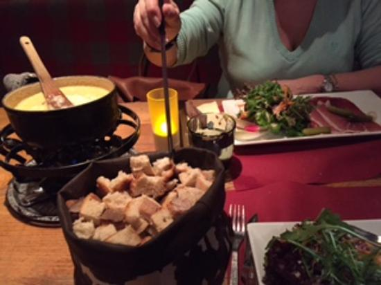 Cheese Fondue for two...