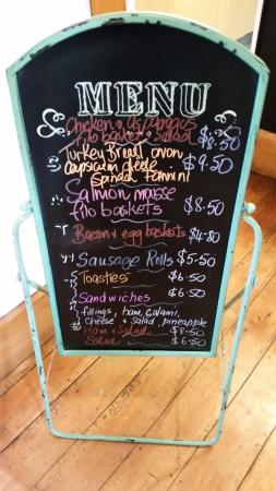Whanganui, New Zealand: menu of the day
