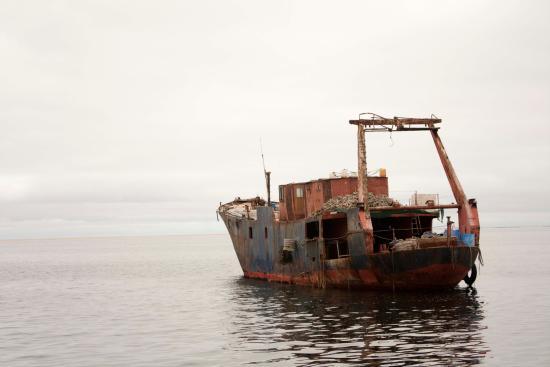 Walvis Bay, Namibia: Old shipwreck