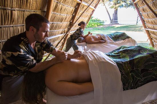 Hanalei, Havaí: Beach Side Couples Massage