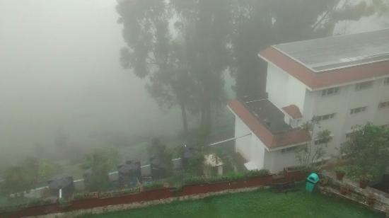 Ooty - Elk Hill, A Sterling Holidays Resort: View from the room on a cloudy day