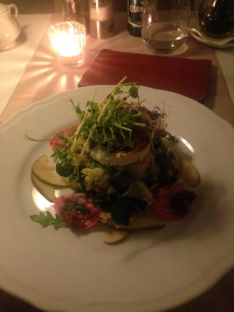 Hotel Kosciuszko: Goats cheese salad with fig mustard dressing, gorgeious