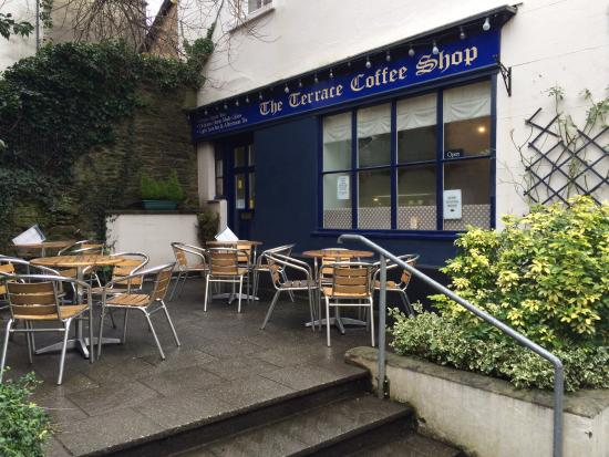 Totnes, UK: Terrace Coffee Shop in February