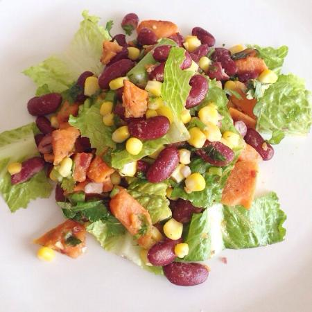 Gluten Free Taco Salad With Corn Lettuce Kidney Beans And Sweet Potato Picture Of Bake Free Gluten Free Restaurant Rawai Tripadvisor