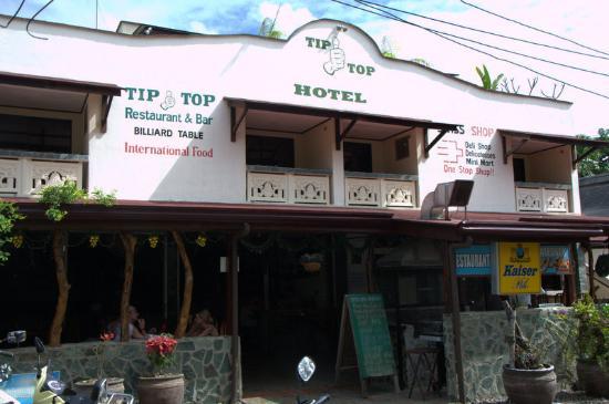 Tawala, Filippinene: Вид на отель и ресторан