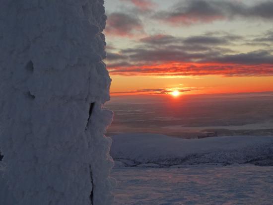 Kirovsk, Rusia: Красота полярной ночи (вид с вершины)