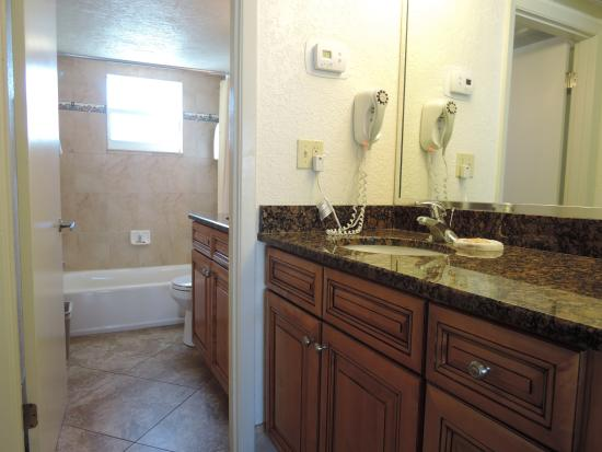 bathrooms have hairdryers and are updated solid wood cabinets with rh tripadvisor com au