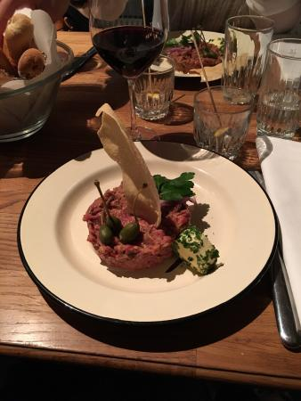Restaurant Sassafraz: Tartare de boeuf