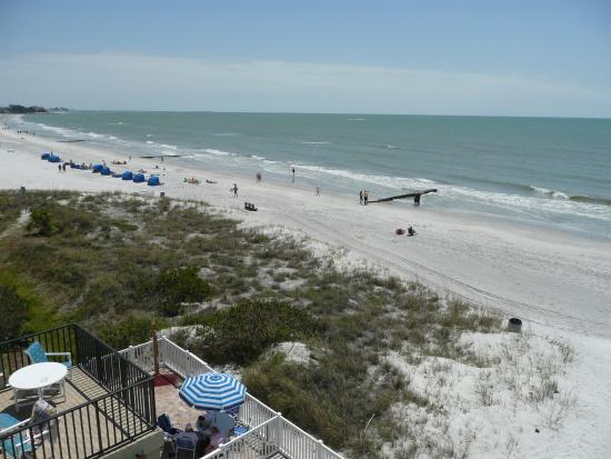 Looking north on Madeira Beach from Island Gulf Resort