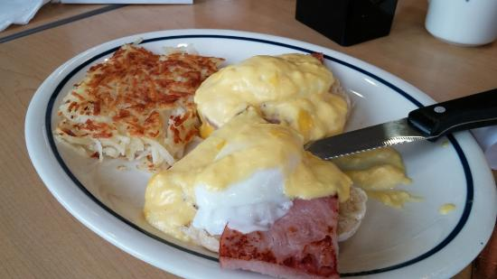 senior eggs benedict, IHOP, Sunset Blvd, Lexington, SC, Feb 2016