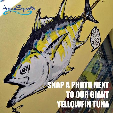 Aquasports: Photo Stop at Store Entrance