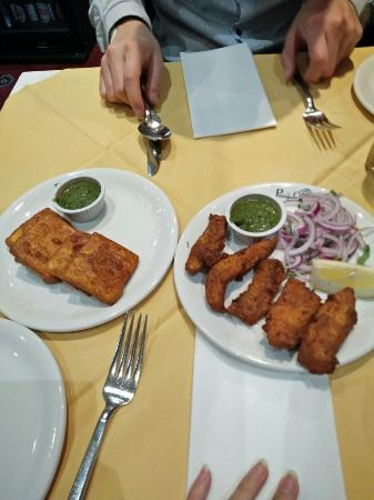 appetisers fried cottage cheese left and fried fish right rh tripadvisor com