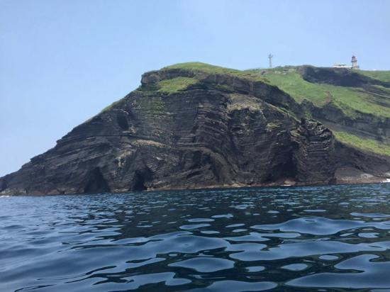 Udo: Beautiful Rock formations and deep blue waters