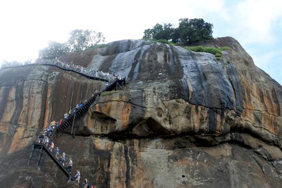 Citadel of Sigiriya - Lion Rock: вид наверх -с площадки Львиные ворота