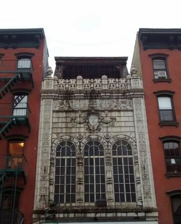 Gotham Walking Tours of New York City: Gorgeous Building on Lower East Side.