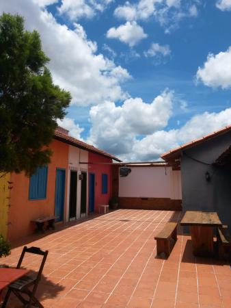 La em Casa Hostel-Pousada: Fundos ou quintal do hostel