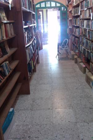 Alma Libre Bookstore : LOOKING DOWN BOOK STACKS