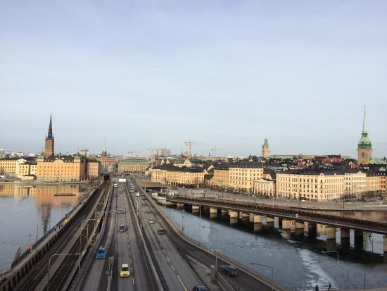 Hilton Stockholm Slussen: vom Balkon aus