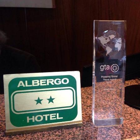 Hotel Virgilio: * Grazie ai viaggiatori GTA Travel * ___ abbiamo vinto il premio ___ * Powering Global Travel Aw