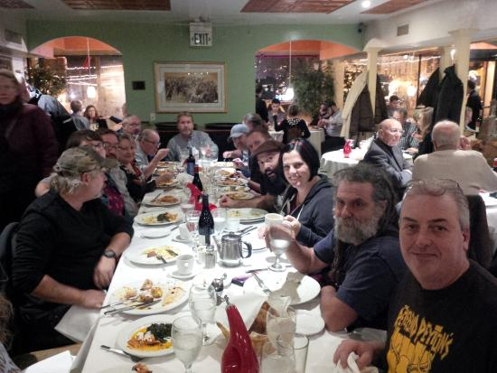 Bloomington, IN: Large group accomodated for Early New Years dinner