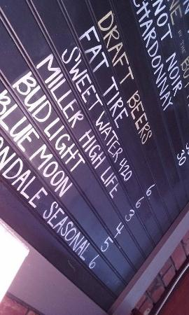 Jim 'n Nick's Bar-B-Q: snapshot of the beer offerings